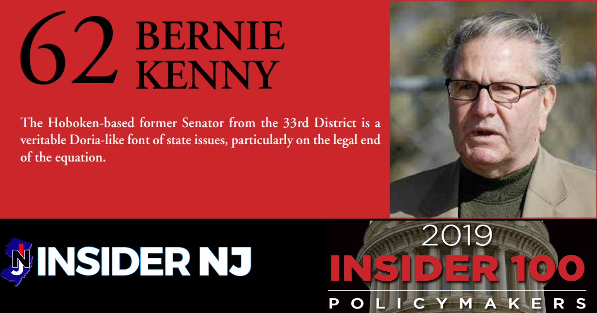 Bernard F. Kenny Recognized as a 2019 Top New Jersey Policymaker