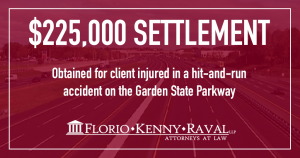 Settlement in NJ Hit and Run Accident Case