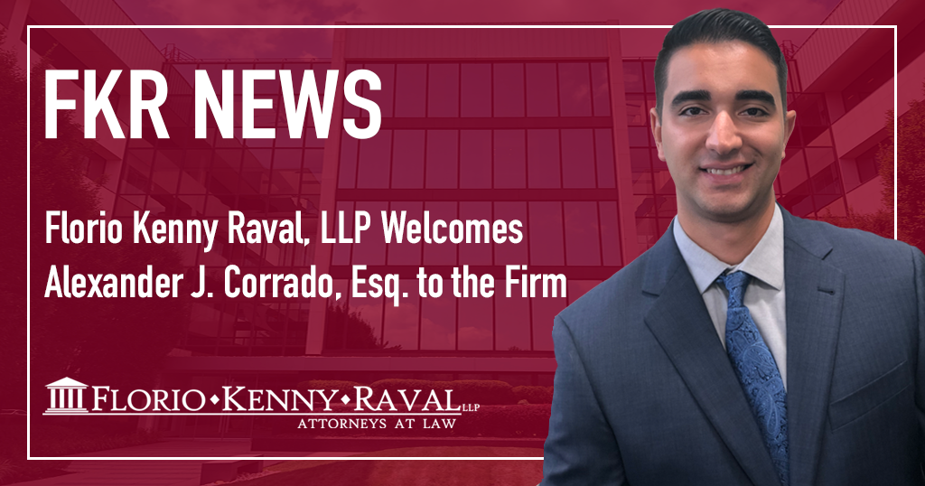 Florio Kenny Raval, LLP Welcomes Alexander J. Corrado, Esq. to the Firm